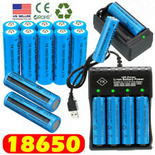 Lot UltraFire 18650 Batteries 3.7V Li-ion Rechargeable Battery Chargers US Stock