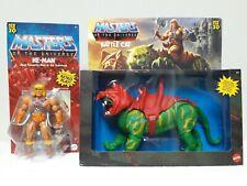 Masters of the Universe Origins He-Man & Battle Cat Lot Mattel MOTU Classics New