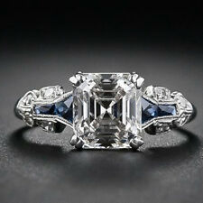 Fashion 925 Sterling Silver Blue Sapphire Gemstone Ring Wedding Jewelry #6-10