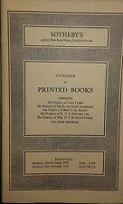 1976 CATÁLOGO VENTAS SOTHEBY´S CON DIBUJO libros en ingléS