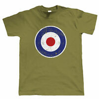 Retro MOD RAF Target, Mens Scooter T Shirt, Gift For Dad Him
