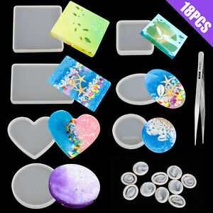 BESUFY Resin Molds,Silicone Epoxy Molds for Resin Casting Release Stress Halloween Christmas Home Decoration DIY Family Love Mould Ornament Making Mold Family*