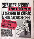Charlie hebdo n°308 du 7/10/1976 Couverture CABU - Le Serment de Chirac
