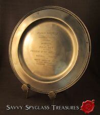 Sterling Silver Historical Plate 1913 No American Indian Memorial Fort Wadsworth