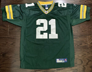 Green Bay Packers NFL Football Super Bowl Jersey 21 Charles Woodson Mens Size 50