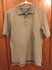 Alpine Design Men's Short Sleeve Polo Shirt Olive Green Size Small