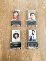 Elvis Presley Lot Of 4 Cassette Tapes Christmas, Gospel, Legendary Songs