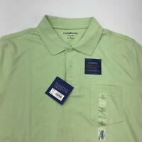 NWT Croft & Barrow Polo Shirt Mens L Light Green Short Sleeve Easy Care Casual