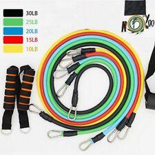 Elastic Resistance Bands Latex Rubber For Crossfit Training Exercise 11 Pcs Set