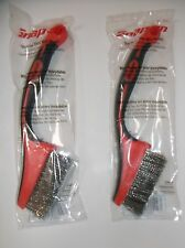 "Snap on 2 x Stainless Steel Mini Wire Brushes, 7"" Long 2"" Wire Head - NEW"