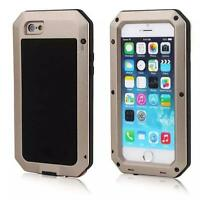 NEW Metal Aluminium Gorrila Glass Water Shock Proof Hard Case for Apple/Samsung