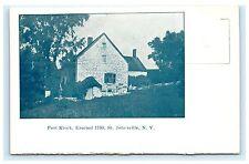Fort Klock Erected 1750 St. Johnsville New York NY UDB Postcard Montgomery Co.