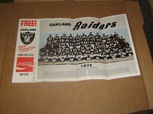 Oakland Raiders lot of 6 various orig vintage 70s picture items-W Brown-Coke tm