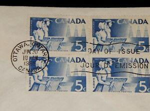 Vintage Cover, CANADA, FDC, 1955, OTTAWA, ON, Alberta & Saskatchewan Anniversary