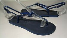 Havaianas Size 6 YOU RIVIERA Navy Blue Crystal Sandals New Women's Shoes