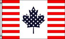 Usa Canada Friendship 3x5 Flag Polyester Red White Blue Maple Leaf