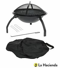 Camping Firebowl With Grill La Hacienda 58106l Folding Legs and Carry Bag