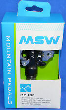MSW MP-100 CLIPLESS BLACK CRANK BICYCLE PEDALS