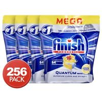 4 x 64pk Finish Powerball Quantum Max Dishwashing Tablets Lemon Sparkle