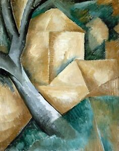 Houses at l'Estaque by French  Georges Braque. Canvas Abstract  11x14 Print