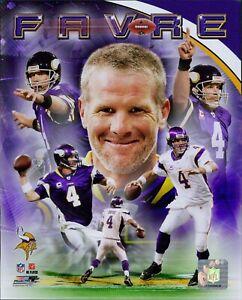 Brett Favre Minnesota Vikings NFL Licensed Unsigned Glossy 8x10 Photo G
