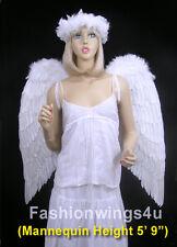 Adults XL Wingspan Costume Feather Angel Wings Dark Fairy Maleficent Demon Angel