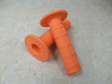 PROTAPER PRO TAPER BRIGHT ORANGE 1/3 WAFFLE MX MOTO-X GRIPS SOFT COMPOUND TACKY