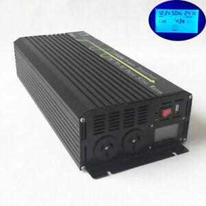 Pure Sine Wave 1500W Car Power Inverter  12V/24V USB Port LCD Display AU Stock