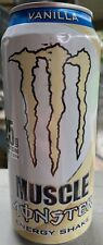 NEW MUSCLE MONSTER VANILLA ENERGY SHAKE DRINK 15 FL OZ FULL CAN FREE SHIPPING
