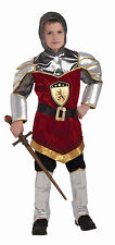 Kids Dragon Slayer Costume Knight in Shining Armor Renaissance Child Size M 8-10