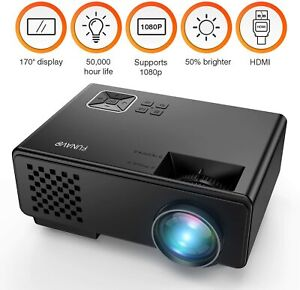Projector, FUNAVO RD-815 LED Mini Video Projector for Multimedia Home Theater