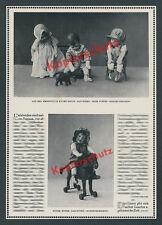 orig Fotobericht Käthe Kruse Puppen Schlenkerchen Pferd Spielzeug Bad Kösen 1924
