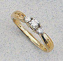 .25 ctw. 3 natural diamond anniversary engagement 14K, past present future