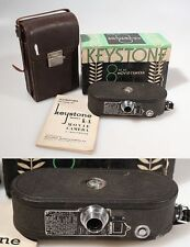 8MM MOVIE CAMERA ART DECO IN ORIGINAL CASE IN ORIGINAL BOX W/ OWNER MANUAL