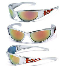 Mens Choppers Bikers Racing Sport Motocycle Wrap Style Sunglasses - Sil.Fire C19