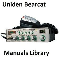 Uniden Bearcat Service & Instruction Manual Library * Cdrom * Pdf