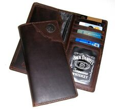 Jack Daniels Distillers Choice Rodeo Style Wallet Dark Brown - New in Tin