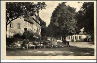 Ebersdorf Thüringen DDR Postkarte ~1955 Partie an der Dorf Straße ungelaufen