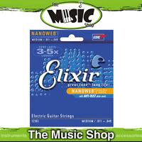 New Set of Elixir Nanoweb 11-49 Medium Electric Guitar Strings - 12102
