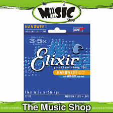 12 Sets of Elixir Nanoweb 11-49 Medium Electric Guitar Strings - 12102 Bulk Box