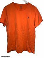 Polo Ralph Lauren T Shirt Mens Custom Fit Size L Orange Short Sleeve C32