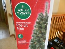 6 foot green prelit Christmas tree w/200 clear lights