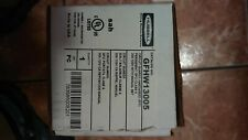 *New* Hubbell Gfhw13005 Gfci Circuit 30A 120V With Manual