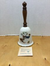 """Vintage Gorham Norman Rockwell """"Flying High"""" Collectible Bell 1980 Great Display"""