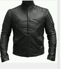 Superman Smallville Man of Steel Shield Black PU/FAUX Leather Jacket