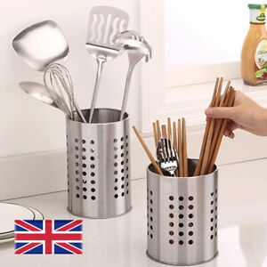 Stainless Steel Cutlery Holder Stand for Home Kitchen Sink Tidy Drainer Utensil
