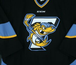 Toledo Walleye Game Authentic Hockey Jersey CCM Alt. Black ECHL 56 Pro Blank