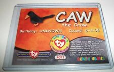 Ty S2  Beanie Card-Happy Birthday CAW THE CROW BLUE CARD INSERT ONLY