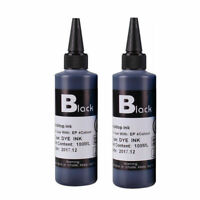 2x 100ml BLACK Refill ink Replacement Kit for E p s o n HP Canon Brother Printer