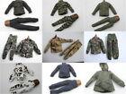 1/6 Uniforms Coveralls Suit lots of 9 Tiger Desert Camo Swat Fit HT B005 Body